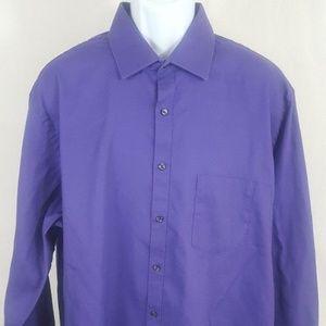 Van Heusen Purple Wrinkle Free 18.5 Pin Cord A034